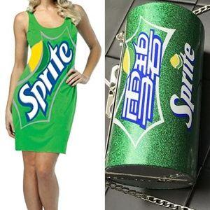 Sprite Dress Costume includes: Dress&Purse